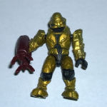 Mega Bloks Halo gold Covenant elite commando figure